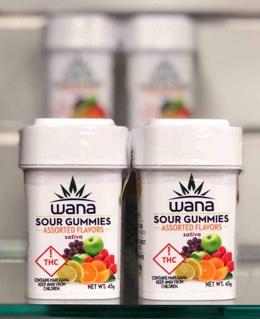 La variedad de gomitas agrias de Wana